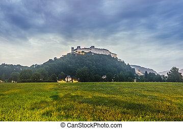 Hohensalzburg Castle (Festung Hohensalzburg) in Salzburg, Austria