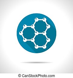 Graphene icon - Vector graphene flat icon Science...