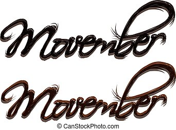 Movember - A hair font for Movember