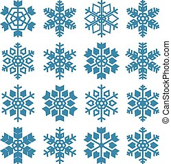 Set of snowflakes, vector