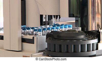 Equipment in chemical laboratory DNA or virus analysis...