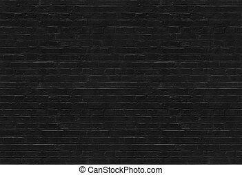 Seamless black brick wall pattern suitable for pattern...