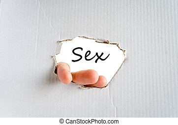 Sex Text Concept - Sex text concept isolated over white...