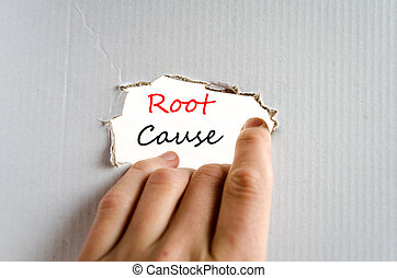 Root cause Text Concept - Root cause text concept isolated...