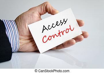 Access control Text Concept - Access control text concept...