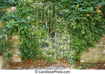 locked gate - Oprtalj-Portole, situated on the hill is one...