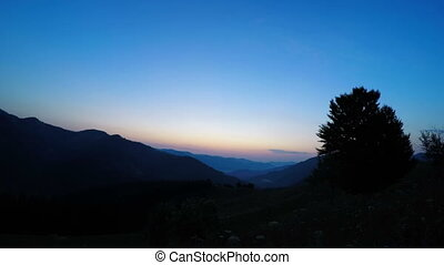 Mountain Landscape Sunrise - Mountain Landscape in the...
