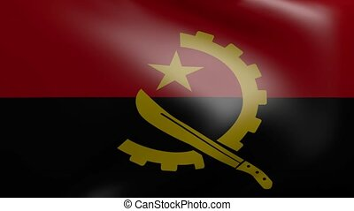 angola strong wind flag