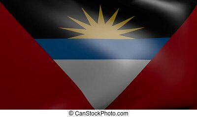 antigua strong wind flag