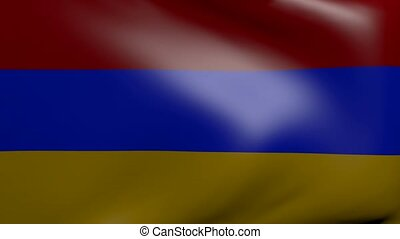 armenia strong wind flag