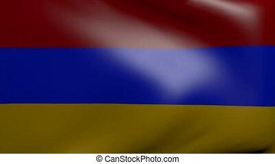 armenia strong wind flag
