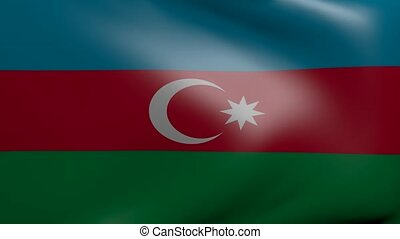 azerbaijan strong wind flag