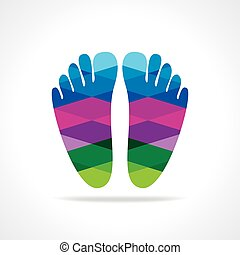 foot print concept - foot print colorful vector illustration...