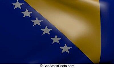 bosnia strong wind flag