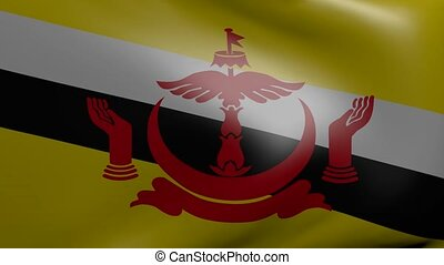 brunei strong wind flag