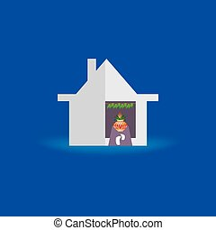 stock-vector-dream-home-housewarming-concept-with-foot -...