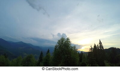 Sunset in Carpathian Mountains - Sunset in Carpatian...