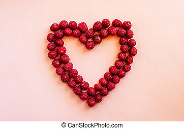 cranberries heart - heart from red ripe cranberries