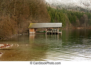 Boatshed  - A boatshed on a lake in Bavaria, Germany