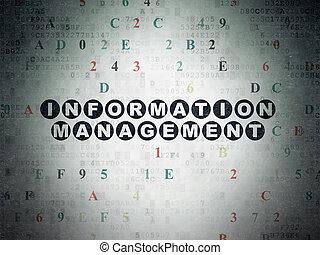Data concept: Information Management on Digital Paper background
