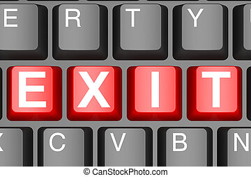 Exit button on modern computer keyboard