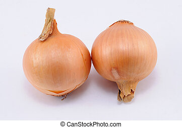 Two Onions isolated over white background