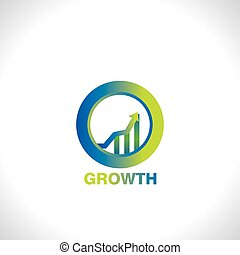 business growth - icon of business growth vector