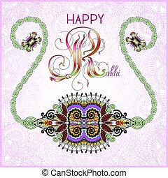 greeting card for indian festive sisters and brothers Raksha...