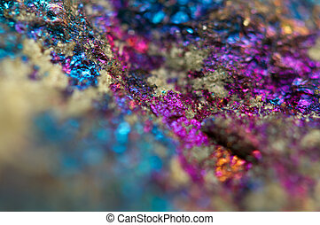 Beautiful background - Jewel ore.  Macro. Extreme closeup