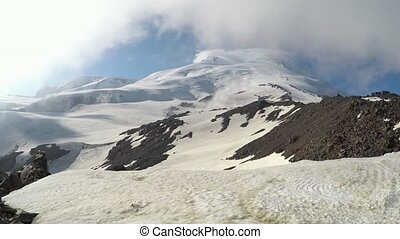 Western and eastern peaks of Elbrus - The western and...