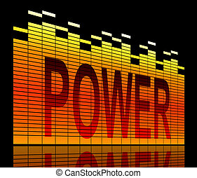 Power concept. - Illustration depicting graphic equalizer...