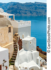 Old and new house in Oia, Santorini