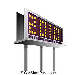 billboard with signage showing new year 2010 - illustration...