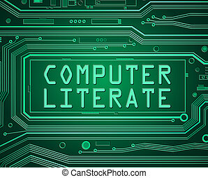 Computer literate concept - Abstract style illustration...