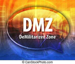 DMZ acronym definition speech bubble illustration - Speech...