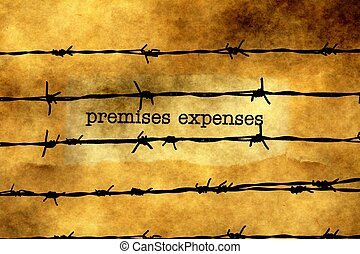 Premises expenses against barbwire