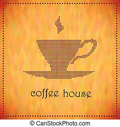 Coffee house - Vector illustration of a coffee cup