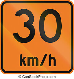 Temporary Maximum Speed 30 Kmh in Canada - Temporary road...
