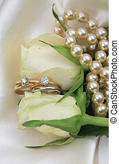 Double bridal set on white roses - Two bridal sets and a two...