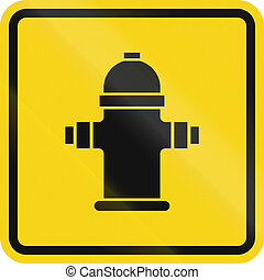 Fire Hydrant In Canada - Fire hydrant sign in Canada. This...