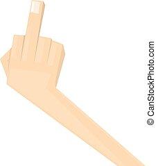 simple, homme, main, à, milieu, finger., ,