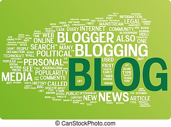 Blog word cloud illustration Graphic tag collection