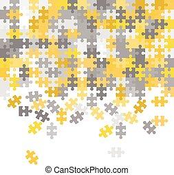 Unfinished puzzle background