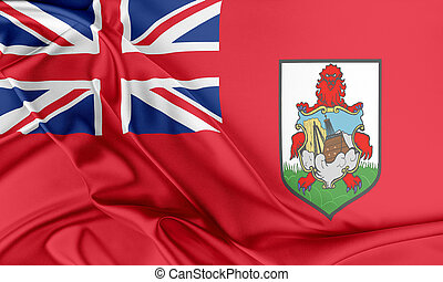 Bermuda Flag. Flag with a beautiful glossy silk texture.