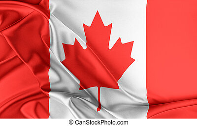 Canada Flag Flag with a beautiful glossy silk texture