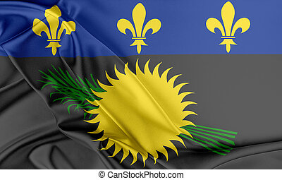 Guadeloupe Flag. Flag with a beautiful glossy silk texture.