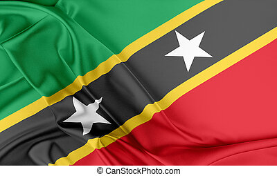 Saint Kitts and Nevis Flag.