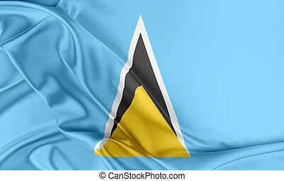 Saint Lucia Flag.