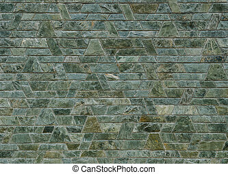 decorativo, verde, pizarra, piedra, pared,