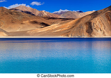 Mountains,Pangong tso Lake,Leh,Ladakh,Jammu and...